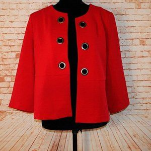 Chico's red 3/4 sleeve Red Open Jacket Size 1